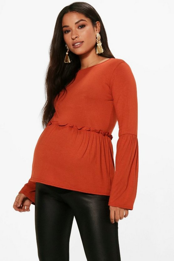 Maternity Bell Sleeve Smock Top