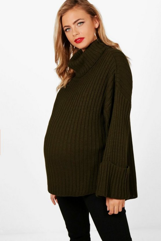 Maternity Milly Oversized Ribbed Boyfriend Jumper
