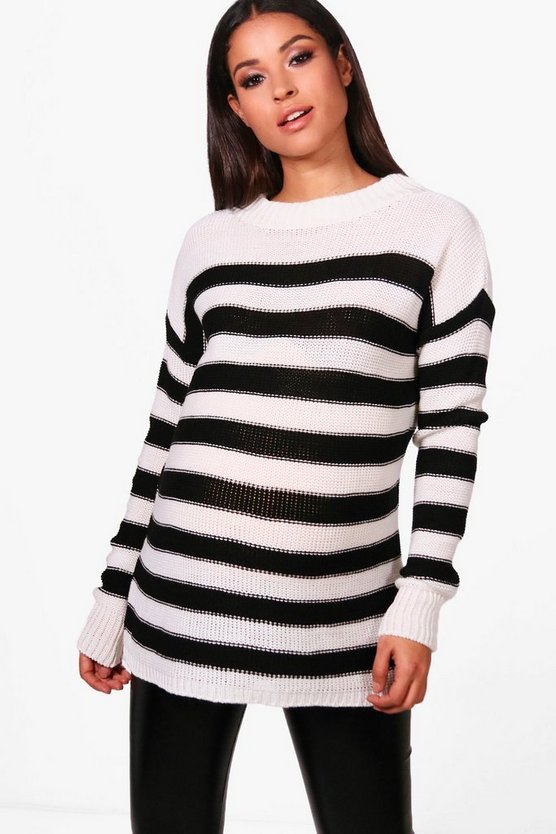 Maternity Alyssa Stripe Knitted Jumper