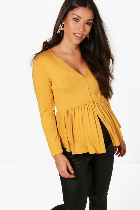Maternity Button Through Top