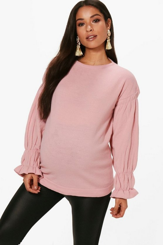 Maternity Julia Ruffle Sleeve Jumper