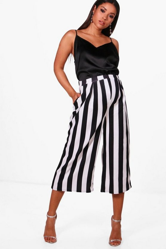 Maternity Lucy High Waisted Stripe Culottes
