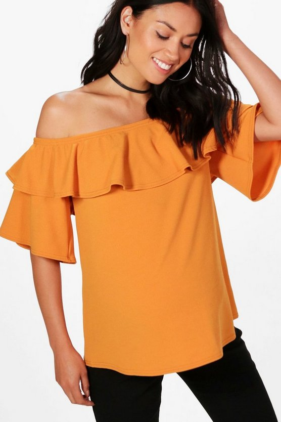 Maternity Ellie Off The Shoulder Top