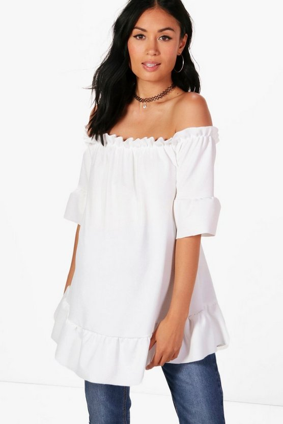 Maternity Tia Off The Shoulder Ruffle Top