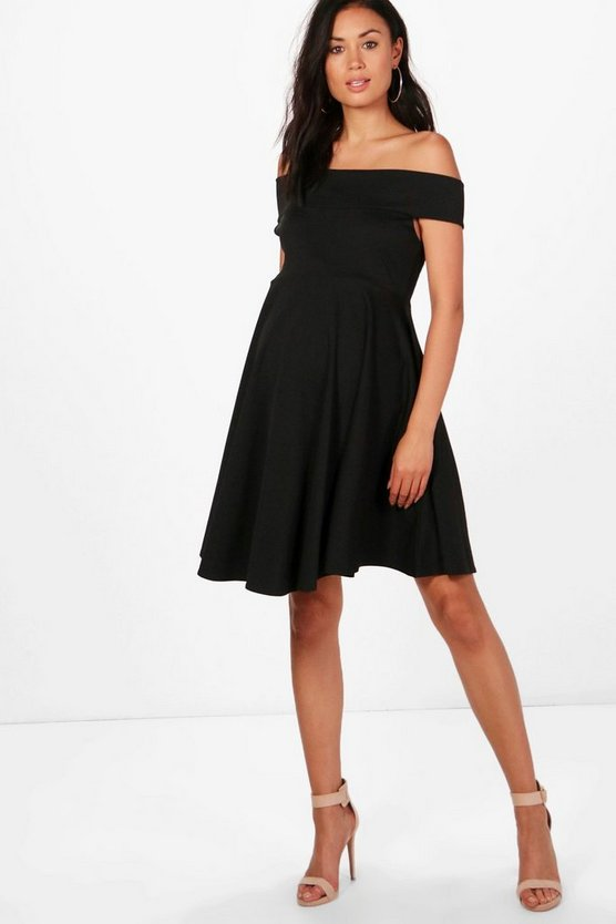 Maternity Megan Off The Shoulder Skater Dress