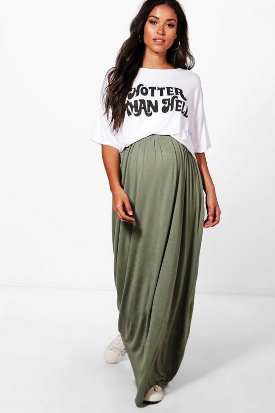 Maternity Rachel Jersey Based Maxi Skirt
