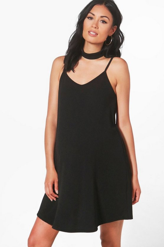 Maternity Neve Choker Cami Dress in Crepe