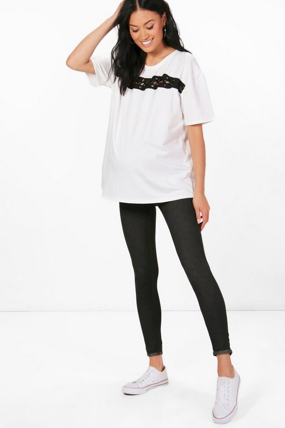 Maternity Hana Turn Up Pocket Back Legging