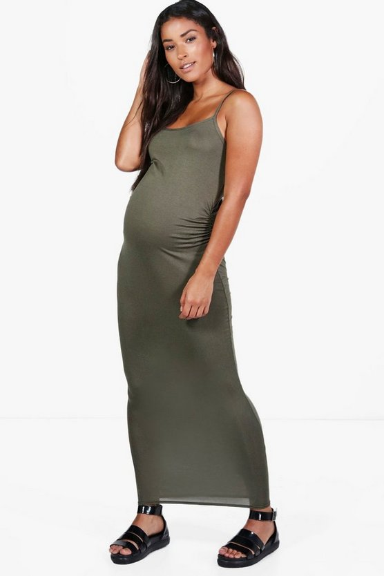 Maternity Jasmin Strappy Maxi Bodycon Dress