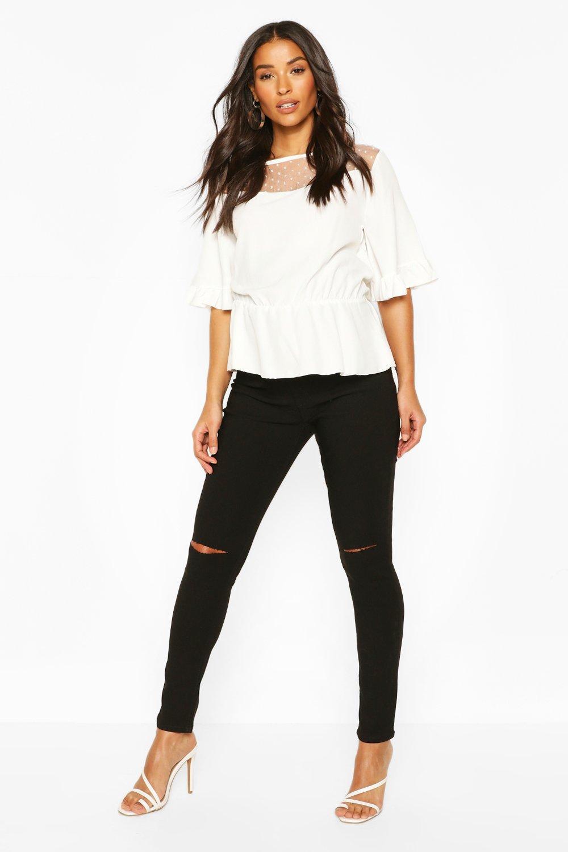 Купить Джинсы, Рваные джинсы скинни Grace для беременных со вставкой для живота, boohoo