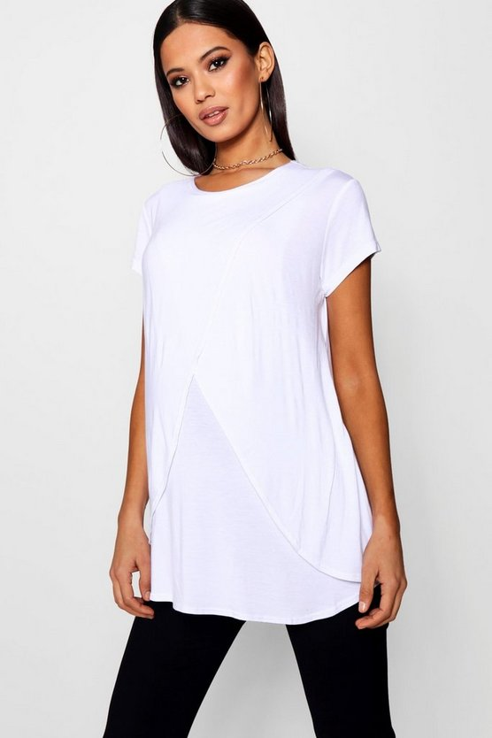 Maternity Nursing Cap Sleeve Tee