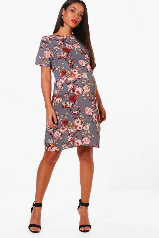 Maternity Emmy Floral Short Sleeve Shift Dress