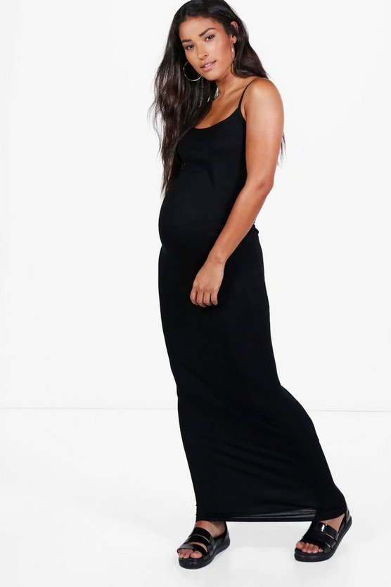 Maternity Sandy Strappy Maxi Bodycon Dress
