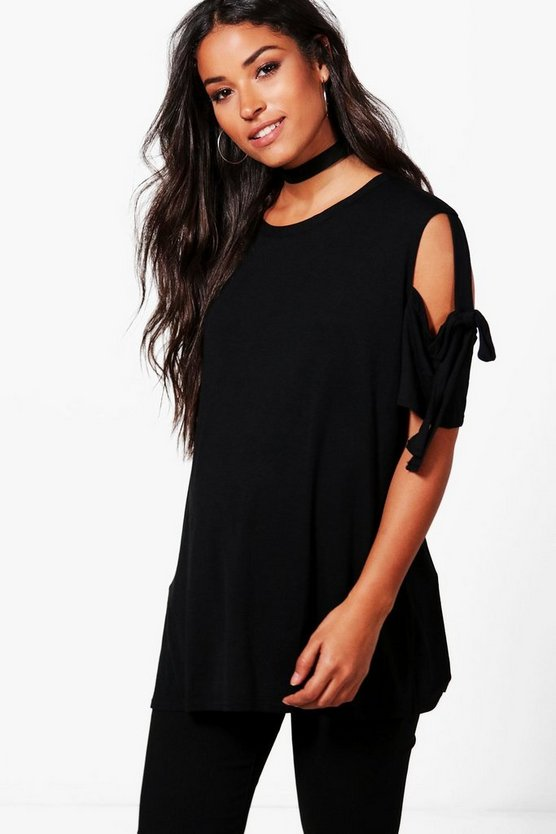 Maternity Ella Bow Detail Oversized Tee