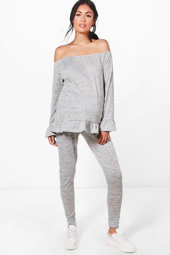 Maternity Ella Ruffle Top Loungewear Set