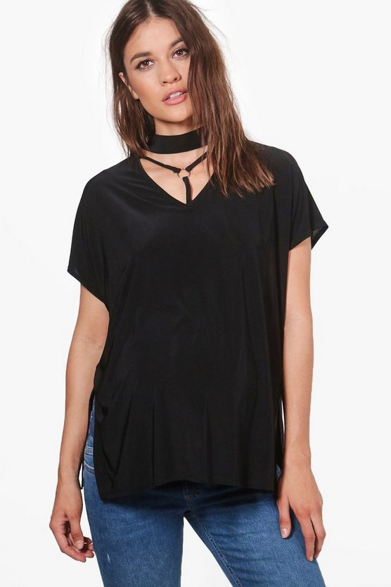 Maternity Lorna Cage Detail Choker Top
