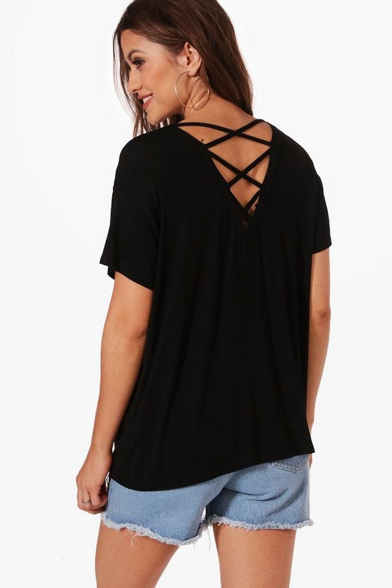 Maternity Nadia Lace Up Back Tee