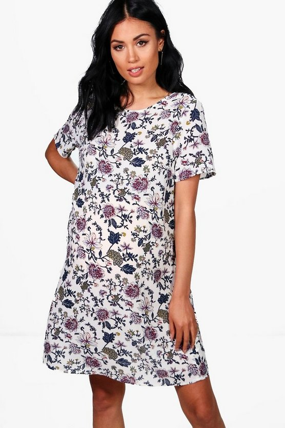 Maternity Freya Floral Printed Cap Sleeve Shift