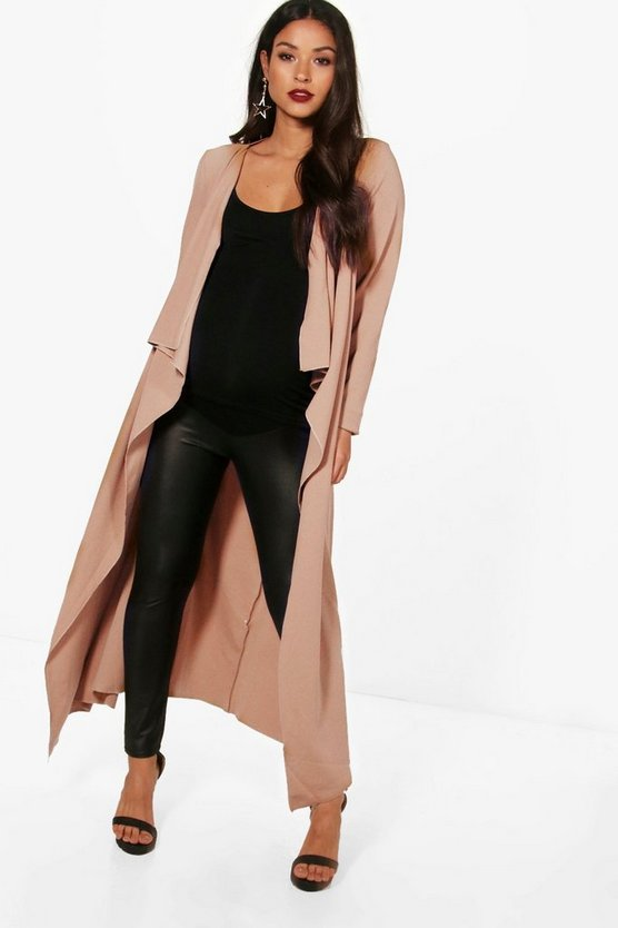 Maternity Sara Waterfall Duster Coat