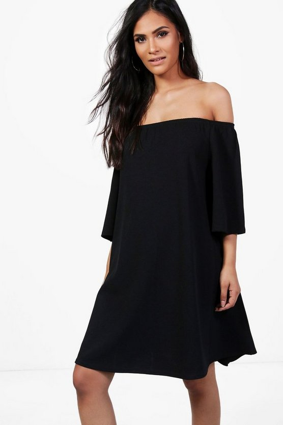 Maternity Hope Off The Shoulder Swing Dress
