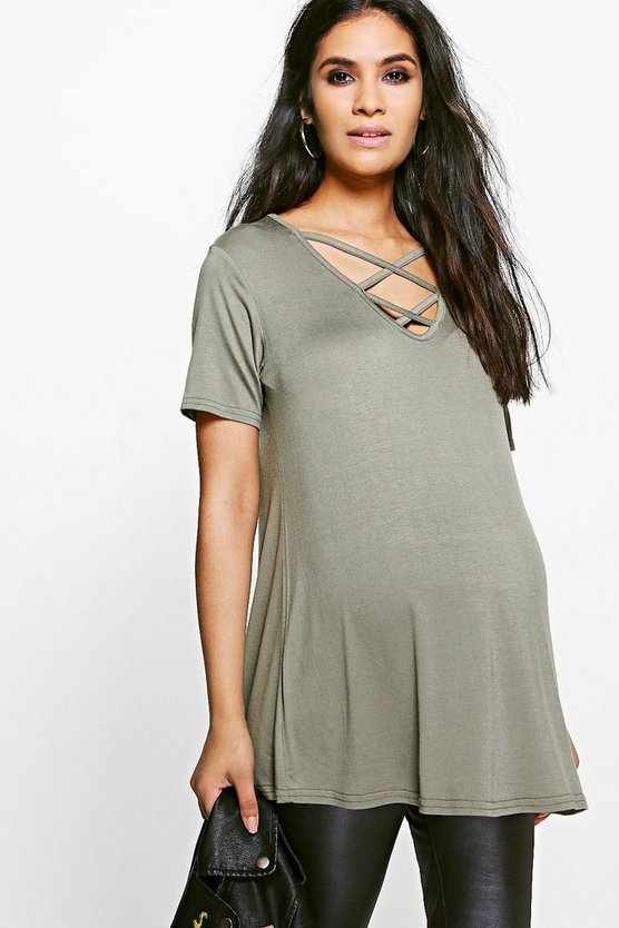 Maternity Harper Cross Front Swing Top