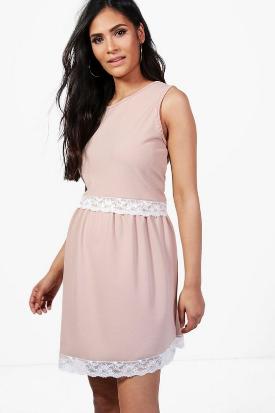 Maternity Lucy Lace Tiered Swing Dress