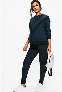 Maternity Clara Contrast Sweat & Jogger Set