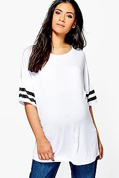 Maternity Olivia Oversized Baseball T-Shirt