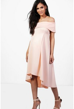 Maternity Darcy Double Layer Midi Dress
