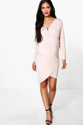 Maternity Sophie Strappy Wrap Front Dress