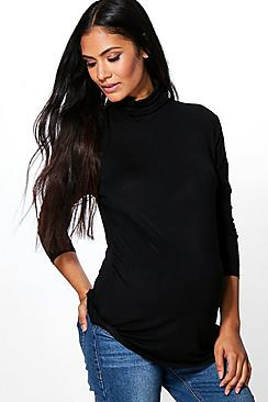 Maternity Harriet High Neck Long Sleeve Top