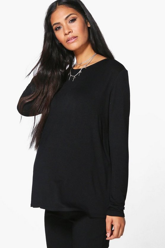 Maternity Lola Long Sleeve Crew Neck T-Shirt