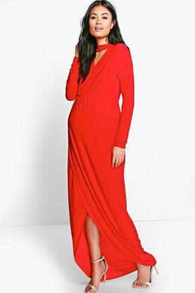 Maternity Eliza Choker Detail Maxi Dress