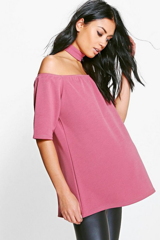 Maternity Alice Off The Shoulder Choker Top