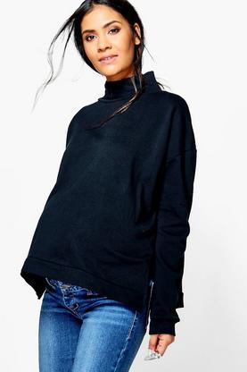 Maternity Lianne Turtle Neck Oversized Sweater
