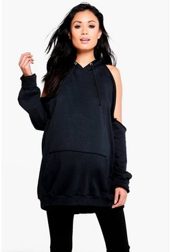 Maternity Evie Open Shoulder Hooded Sweat