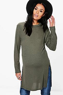 Maternity Rita Side Split Jumper