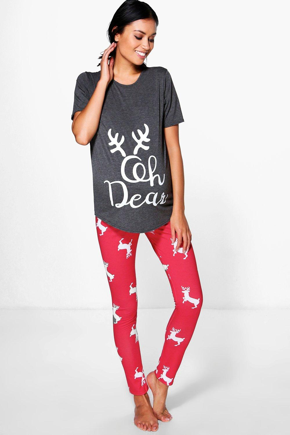 Maternity Molly Oh Deer Christmas Pyjama Set