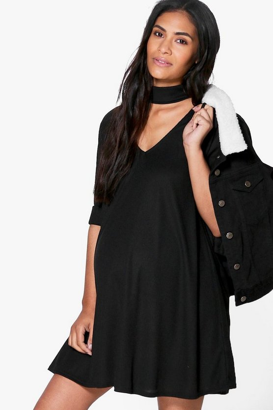 Maternity Molly Choker Swing Dress