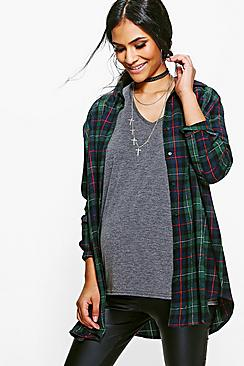 Maternity Carly Check Shirt