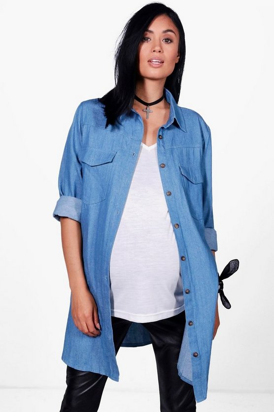 Maternity Laila Denim Shirt