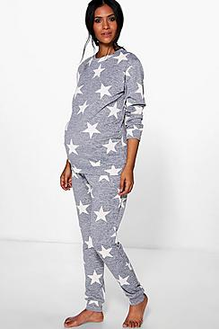 Maternity Evie Star Printed Knitted Lounge Set