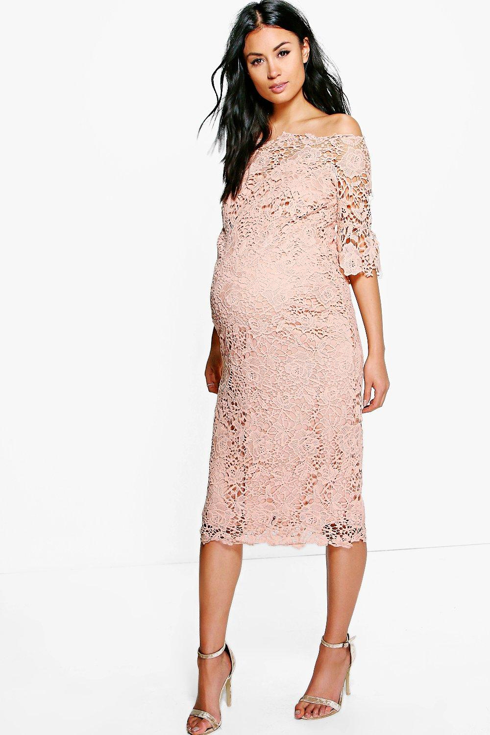 Maternity phoebe boutique off the shoulder crochet dress boohoo maternity phoebe boutique off the shoulder crochet dress hover to zoom ombrellifo Image collections