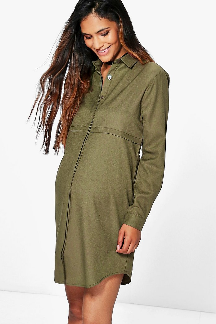 Maternity Jane Woven Shirt Dress