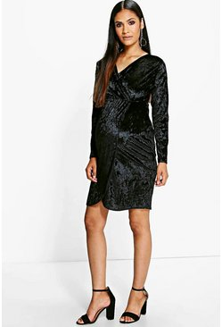 Maternity Ivy Velvet Wrap Dress