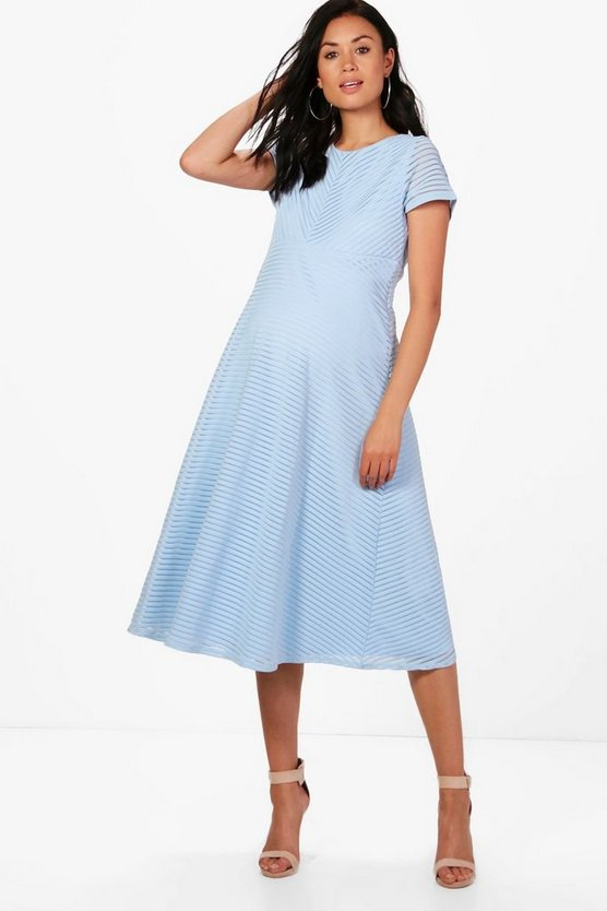 Maternity Boutique Lila Full Skirted Prom Midi Dress