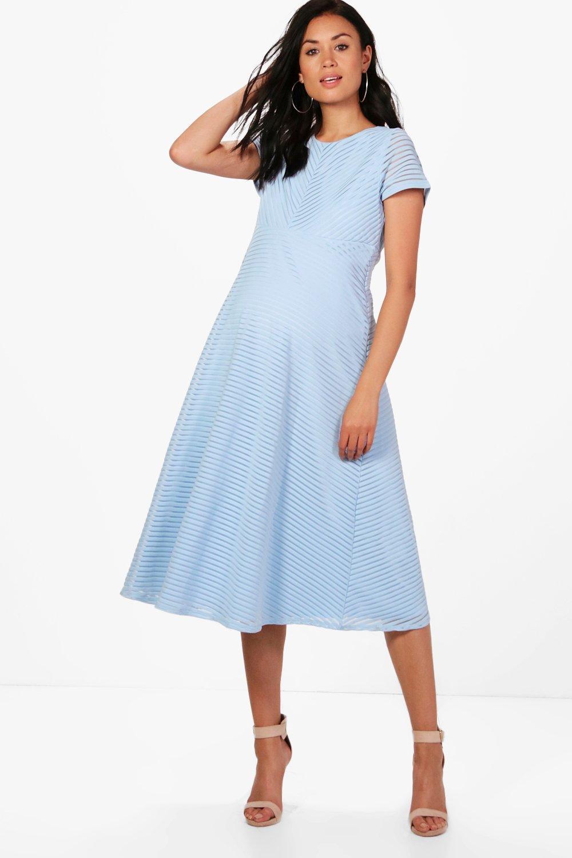boutique lila robe midi de bal de grossesse avec jupe circulaire. Black Bedroom Furniture Sets. Home Design Ideas