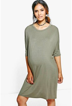 Maternity Sasha Midi T-Shirt Dress