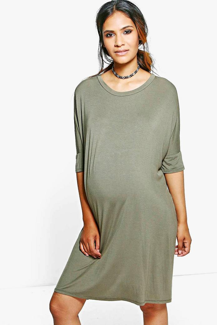 Maternity Sasha Midi T Shirt Dress Boohoo