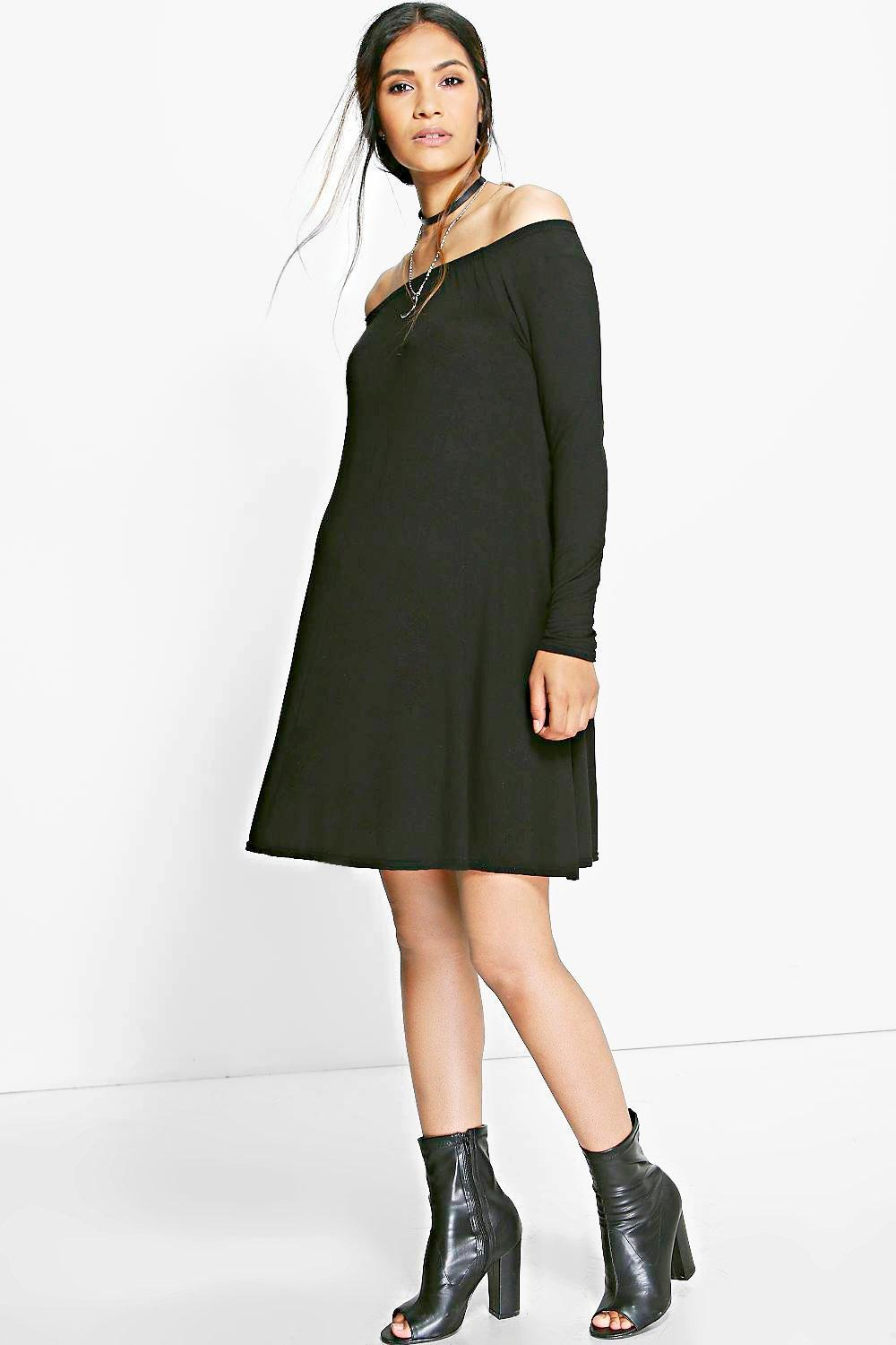 Maternity Ava Off Shoulder Knit Swing Dress